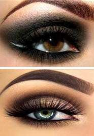 smoky makeup eyes eyeliner apply shadow