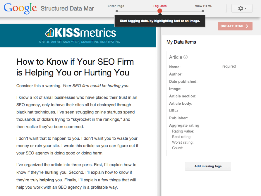 markup seo seo blog shema org structured data json ld keywords