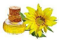 Cosmetics Sunflower oil for skin lubricate