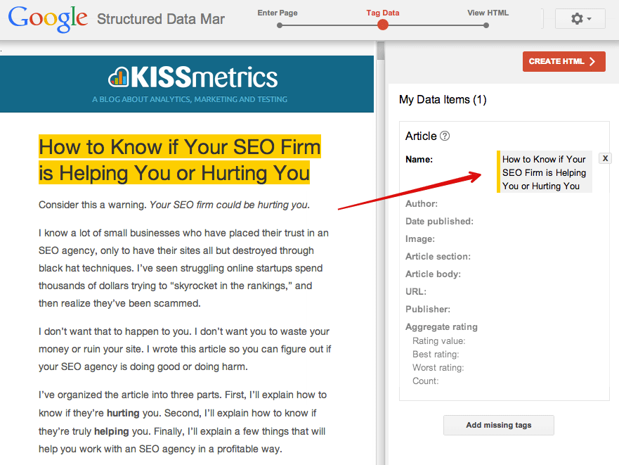 seo blog markup seo structured data json ld keywords shema org
