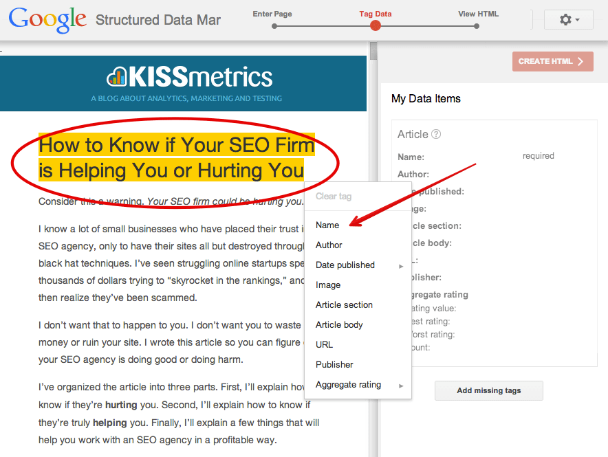 structured data shema org seo blog json ld seo keywords markup