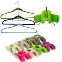 CRcT-10pcs Home Creative New Mini Flocking Clothes Hanger Hook