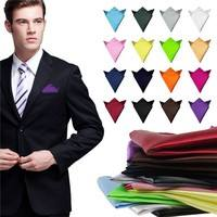 Cdm8-Men Satin Solid Plain Color Handkerchief Hanky Pocket Square Wedding Towel