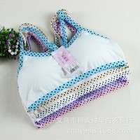 CiT4-New Prop Ventilation Thin Section Bras Girls Underwear Y Type Strap