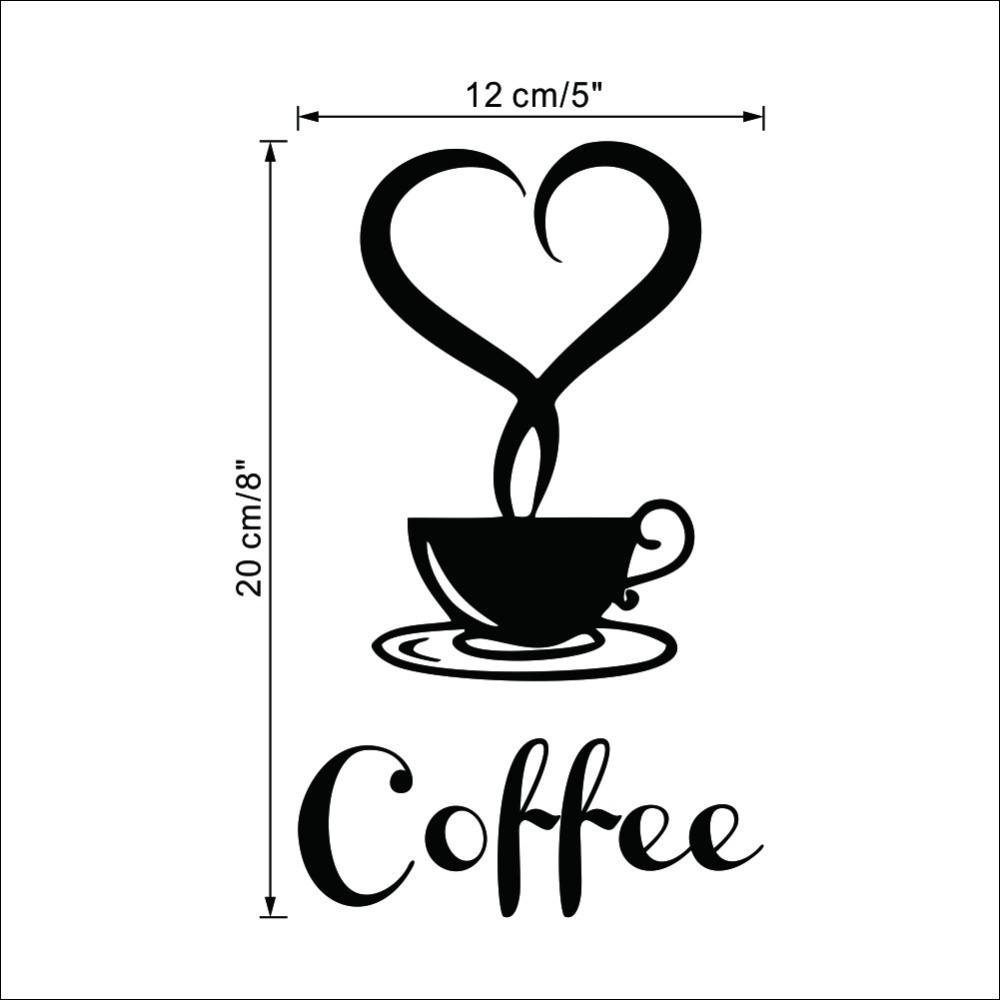 Coffee Restaurant wall decor home decorations removable vinyl wall art  sticker-4