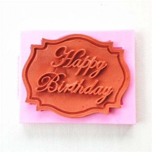Lovely Happy Birthday Silicone Mould Cake Decorating Lace Mat Baking Mold