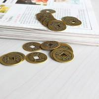 Dd3Y-Set 10pcs Feng Shui Coins 1.00inch 2.5cm Lucky Chinese Fortune Coin I Ching