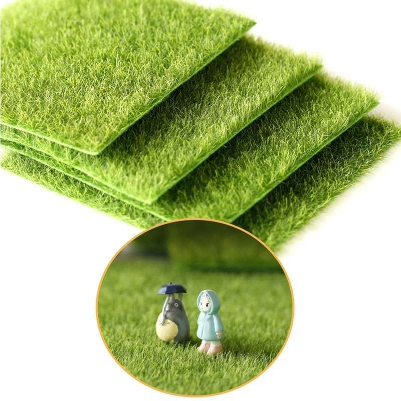 Artificial Garden Grass Lawn Moss Miniature Craft Pot Fairy Dollhouse Decor DIY-2