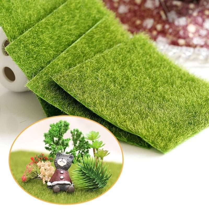 Artificial Garden Grass Lawn Moss Miniature Craft Pot Fairy Dollhouse Decor DIY-3