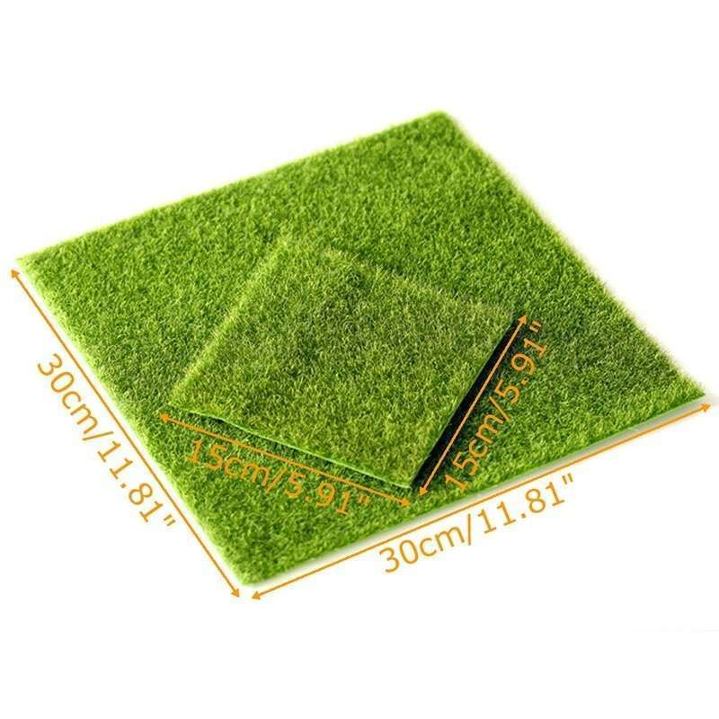 Artificial Garden Grass Lawn Moss Miniature Craft Pot Fairy Dollhouse Decor DIY-7