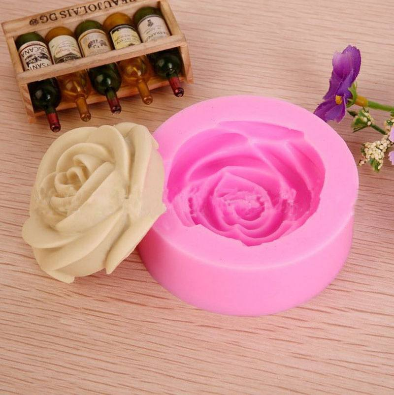 Popular Mini Rose Shapes Chocolate Mould Cake Pastry Candy Molds Baking Tools DIY-1