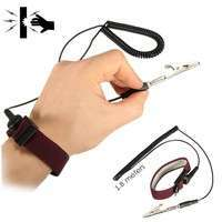 EYhV-Anti Static Adjustable Wrist Strap Discharge Band Ground Bracelet Electronic
