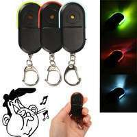 EgBW-Wireless Anti-Lost Alarm Key Finder Locator Key Chain Whistle Sound LED Light
