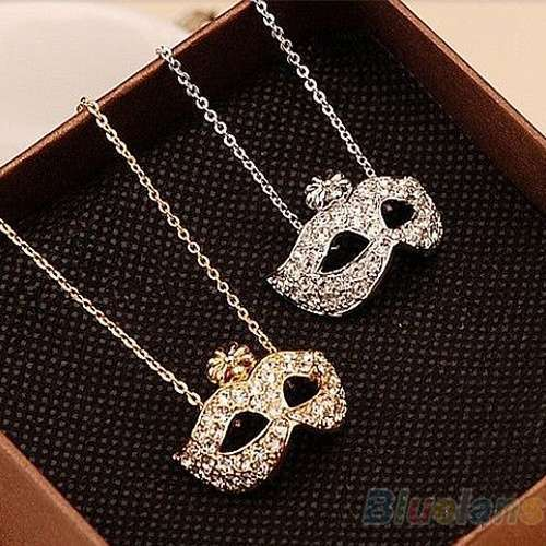 Women's Vintage Retro Style Charm Fox Mask Necklace Pendant