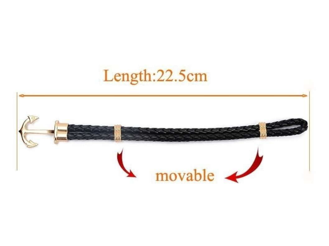 Anchor Shop New Fashion Jewelry Pu Leather Bracelet Men Anchor Bracelets for Women Best Friend Gift Summer Style Pulseira ZT4011 Anchor Shop-2