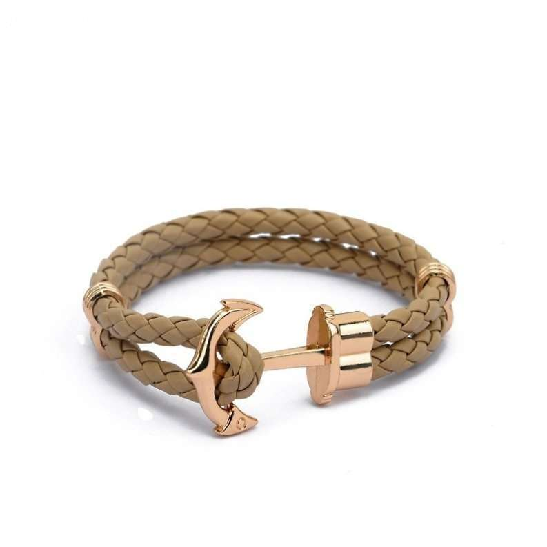 Anchor Shop New Fashion Jewelry Pu Leather Bracelet Men Anchor Bracelets for Women Best Friend Gift Summer Style Pulseira ZT4011 Anchor Shop-6