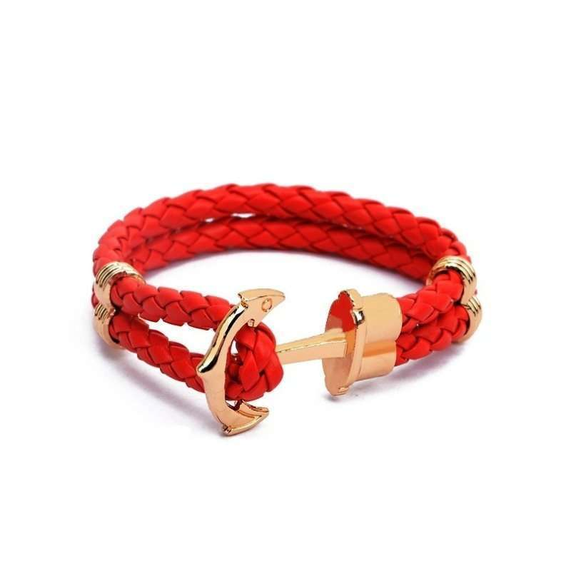 Anchor Shop New Fashion Jewelry Pu Leather Bracelet Men Anchor Bracelets for Women Best Friend Gift Summer Style Pulseira ZT4011 Anchor Shop-7