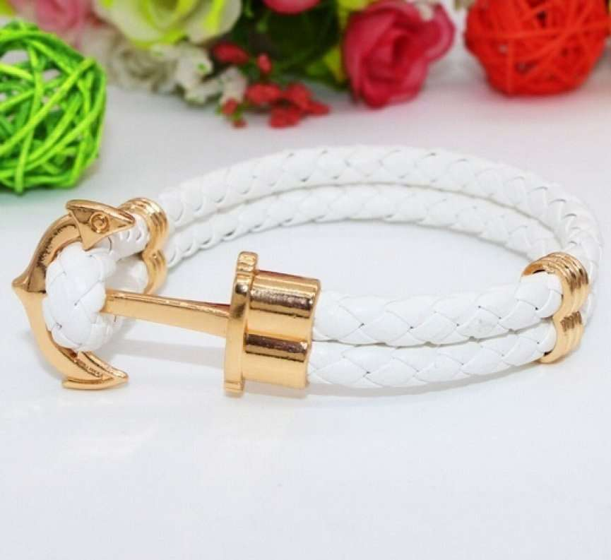 Anchor Shop New Fashion Jewelry Pu Leather Bracelet Men Anchor Bracelets for Women Best Friend Gift Summer Style Pulseira ZT4011 Anchor Shop-8