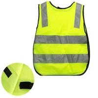 K44S-Children Traffic Safety Yellow Visibility Waistcoat Kids Child Jackets