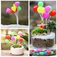KNFU-Miniature Fairy Garden Mini Balloon Dollhouse Craft Plant Pot Ornament Decor Toy