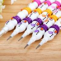 KkQh-2 Pcs Style Christmas Cute Snowman Stackable Writing Pencil Set Colorful Kid