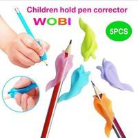 KkUc-5pcs Genuine Dolphin Children Pencil Holder Writing Pen Posture Correction