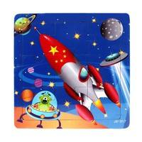 KlZI-GlobalTop Lovely Rocket Fashion Wooden Kids Jigsaw Toys Children Education Learning Puzzles Toys