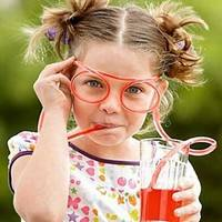 KmEA-Glasses Drinking Straw Eyeglass Frames Creative Toys