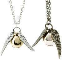 Kw04-Retro Fashion Snitch Coppery Silver Necklace Pendant Charm Chain New