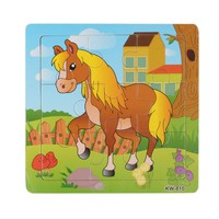 KxbG-Fashion Wooden Horse Jigsaw Toys For Kids Education And Learning Puzzles Toys