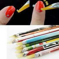 NzYC-Arrival 2 PC Wax Resin Rhinestones Gems Nail Art Picking Tools Pencil Pen Pick Up Pen