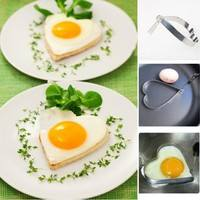 kut8-Cute Kitchen Heart Love Shaped Cook Fried Egg Mold Pancake Stainless Steel Mould