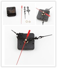 u2SF-Chic New Style Black Quartz Cross Stitch Clock Movement Mechanism Repair DIY Tool Kit Red Hand (Color: Black)
