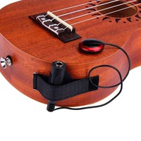uQEP-Acoustic Piezo Contact Black Microphone Pickup For Guitar Violin Mandolin Ukulele