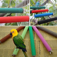 uqDC-Pet Bird Claw And Beak Grinding Bar Standing Stick Cage Accessories Parrot Toy