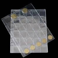 uyi2-30 Classic Coin Collection Storage Album Pages Folder Clear Pockets